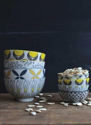 Warm Design 4'lü Handmade Seramik Kaseler Renkli